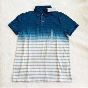 NWT Tommy Hilfiger Stripe Gradient Dye Polo Shirt